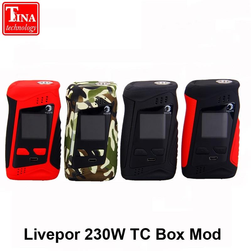 ECIG VAPE Yosta Livepor 230W TC Box Mod cigarette vaporizer ultra light weighted mod powered by