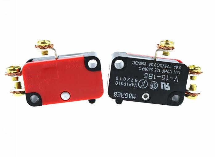 V-15-1B5 15A 250VAC rouleau levier bras SPDT NO/NC Micro interrupteurs momentanés poulie