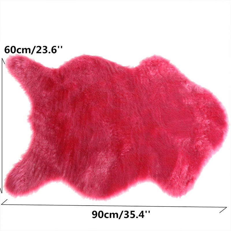 Artificial-Textile-Washable-Imitation-Wool-Carpet-Chair-Cover-Bedroom-Faux-Mat-Seat-Pad-Plain-Skin-Fur