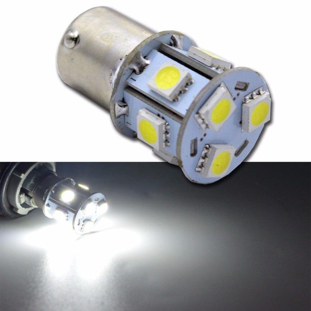 10 pcs White 6000K 1156 BA15S 9SMD LED Brake Backup Reverse Light Bulbs US Stock