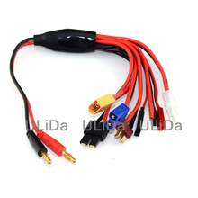8 in1 Multi-Fuction lipo battery Charging Cable JST T-DEAN XT60 EC3 plugs Futaba TAMIYA for IMAX B6 Balance Charger(China)