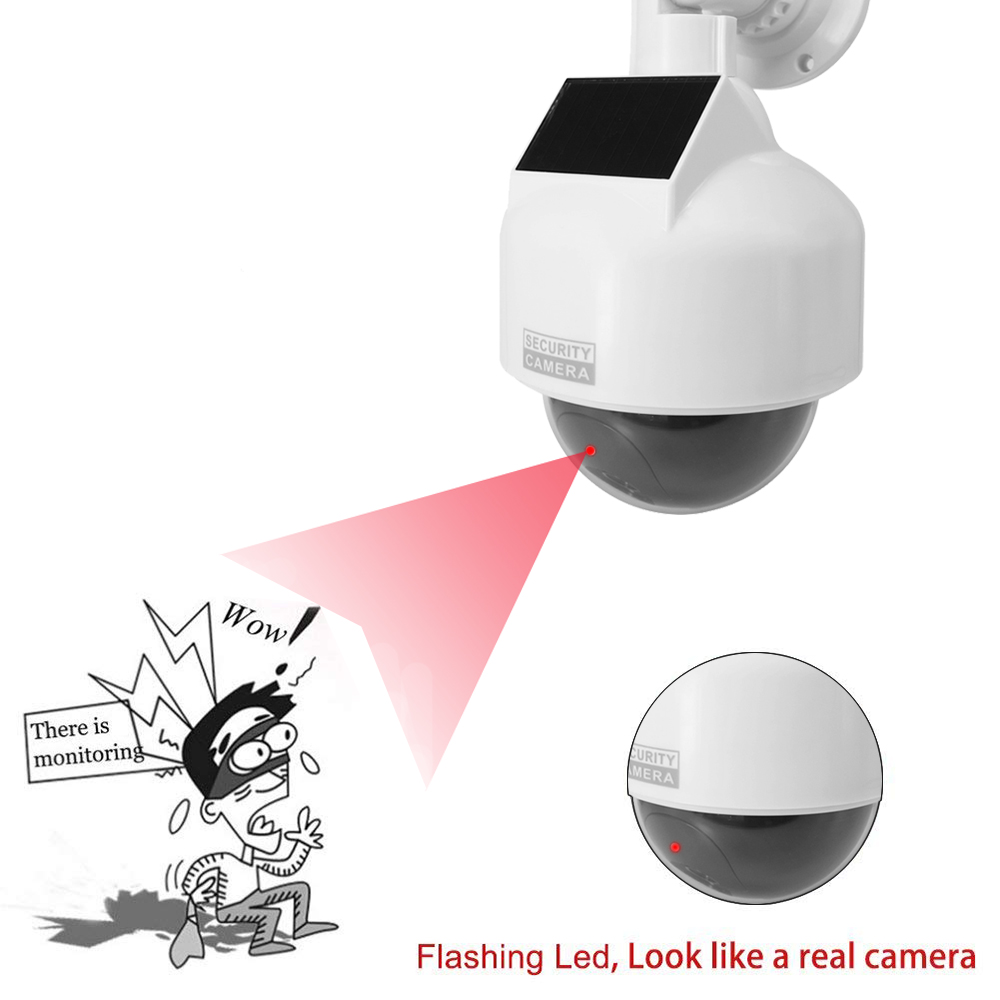 Newest Solar Power Fake Camera Dummy Outdoor Indoor Dome Waterproof Simulate Security Camera Led Light CCTV Surveillance Camera
