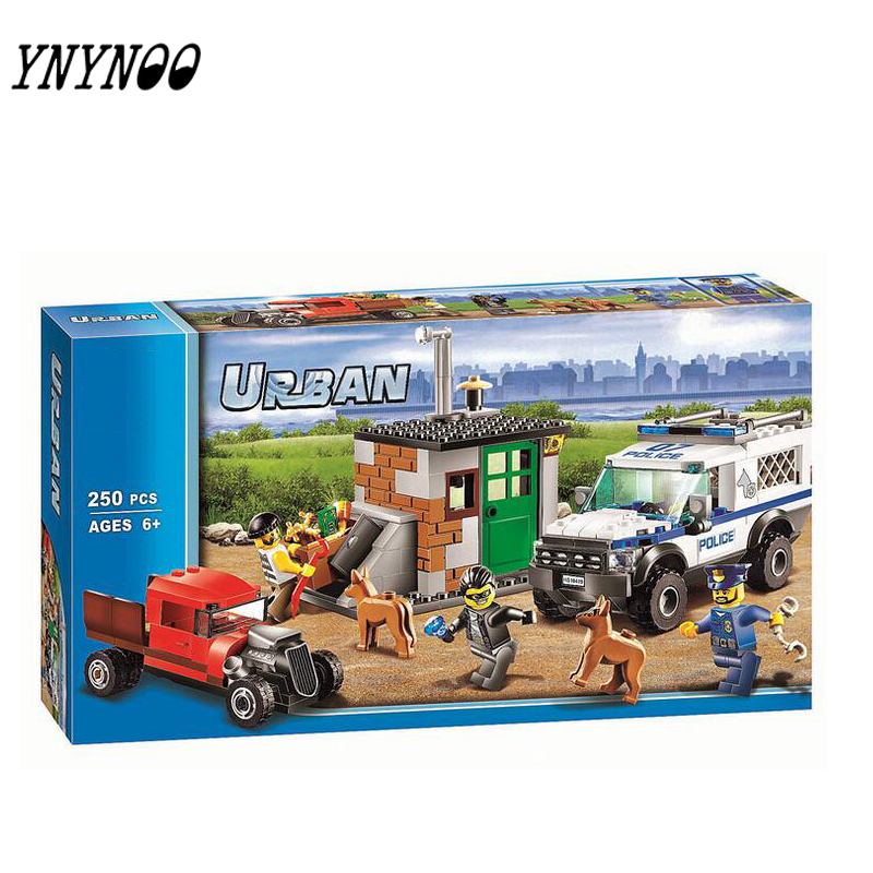 (YNYNOO)Compatible City  Block Police Dog Unit 60045 Building Bricks 10419 Policeman Toys For Children 011 1712 city swat series military fighter policeman building bricks compatible lepin city toys for children