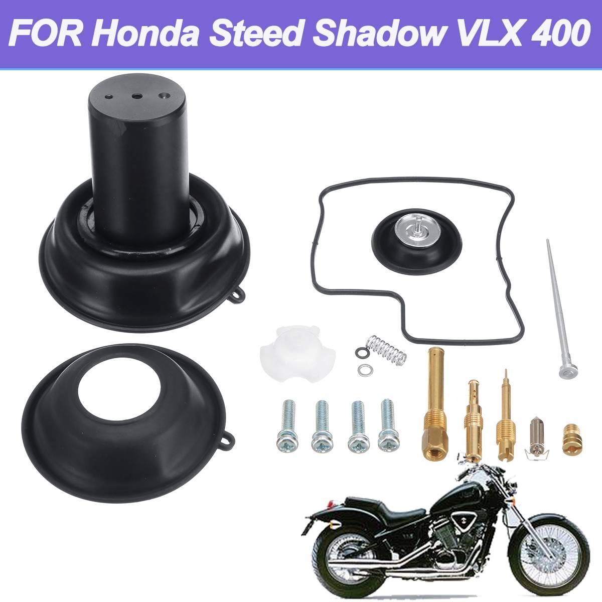 Vacuum Diaphragm Plunger Kit Carburetor Diaphragm plunger w/Needle Carburetor Repair Kit for Honda Steed Shadow VLX 400