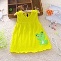 2017 Baby Girls Dress Newborn Fashion Summer Dresses Regular Sleeveless Knee-Length Infant O-Neck Cute Princess Cotton Clothes