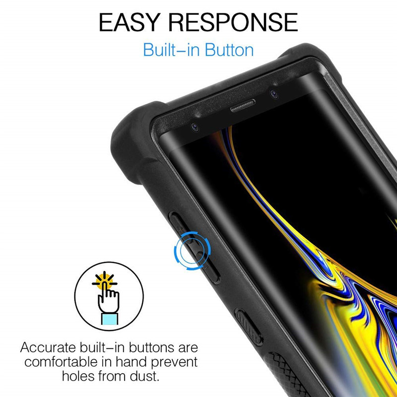 Heavy Duty Protection S10 Plus Armor PC+Soft TPU Cover For Samsung Galaxy S9 S10 Plus Note 8 9 Case Shockproof Cover Coque Funda