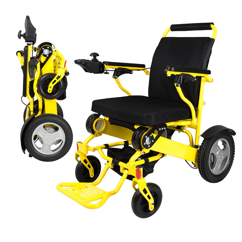 Free shipping capacity 180kg Aircraft font b wheelchair b font Brushless Motor lightweight folding power electric