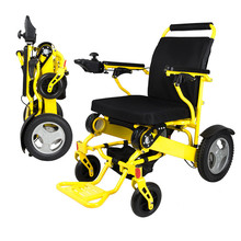 Free shipping capacity 180kg Aircraft wheelchair Brushless Motor lightweight folding power electric wheelchair for disabled