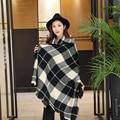 [Homewarm] Шарфы Шарф Женщин Платки Шарфы Плед Взрослых Мода Женщины Хлопок Полиэстер Женщины Зимние Шарфы Марка