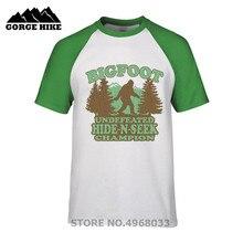 87d90596 Funny Distressed vintage Bigfoot Hide-N-Seek Champion Geeky T-Shirt Tees  Unisex