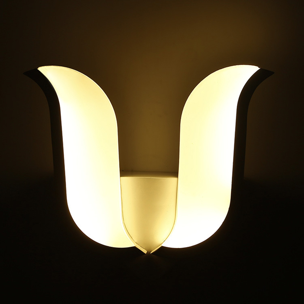 ФОТО Flower shape SMD LED wall lamp bedside lamp modern living room corridor hallway stairs lights Pathway Sconce Lighting