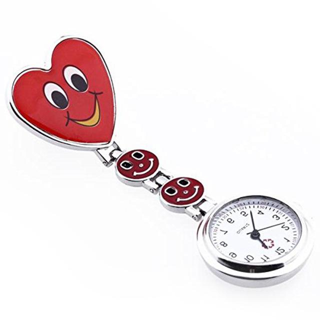 Nurse Pocket watch  Lovely Heart  Smile Face With Medical Nurses  Fashion Quartz Watches  LXH
