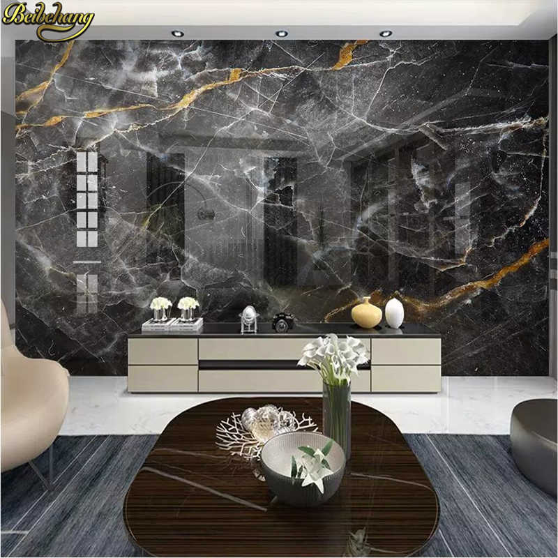 beibehang Black white marble 3D Wallpaper Soft Backgrounds photo Mural Living Room Sofa Bedroom Home Decor Wall paper Painting