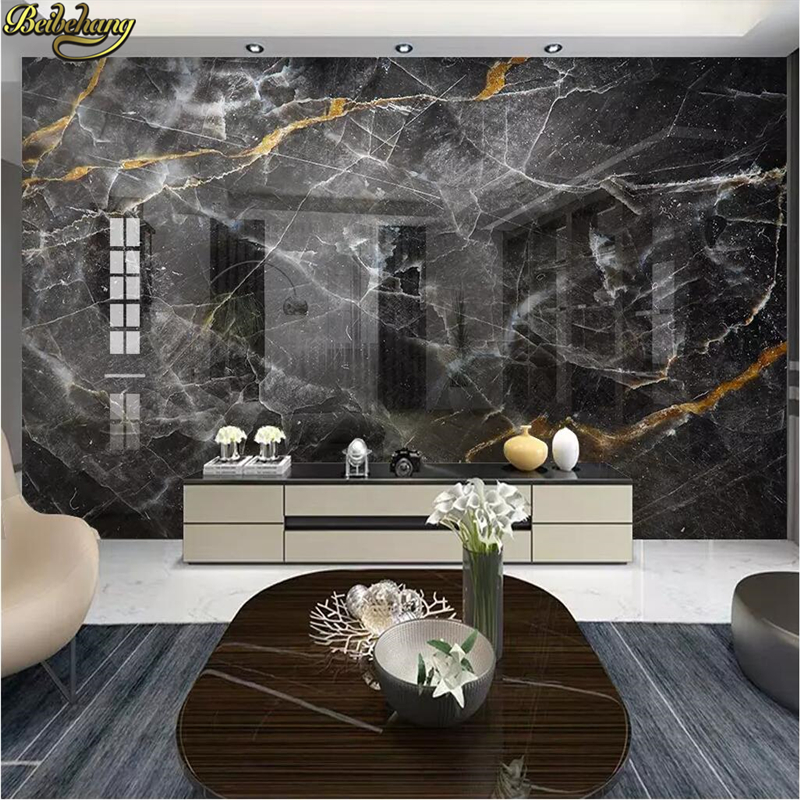 beibehang Black white marble 3D Wallpaper Soft Backgrounds photo Mural Living Room Sofa Bedroom Home Decor
