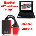 Professional Auto Diagnostic Tool Set VDM UCANDAS Full System Function as Lexia PP2000 UCANDAS wifi with Thinkpad X200T DHL Free