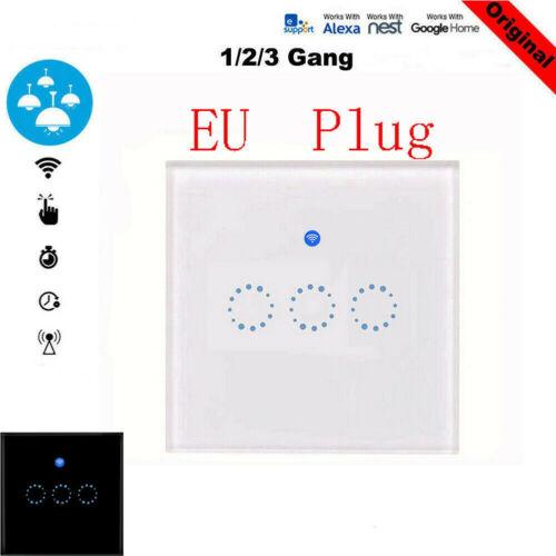 EU Plug 1/2/3 Gang Smart Home WiFi Touch Light Wall Switch Panel For Alexa APPEU Plug 1/2/3 Gang Smart Home WiFi Touch Light Wall Switch Panel For Alexa APP