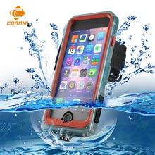 CORNMI Водонепроницаемый телефон Чехлы для iPhone 7 s 7 г 4.7 дюйма полный охват 360 градусов защитный чехол Держатель PC + TPE + силиконовые