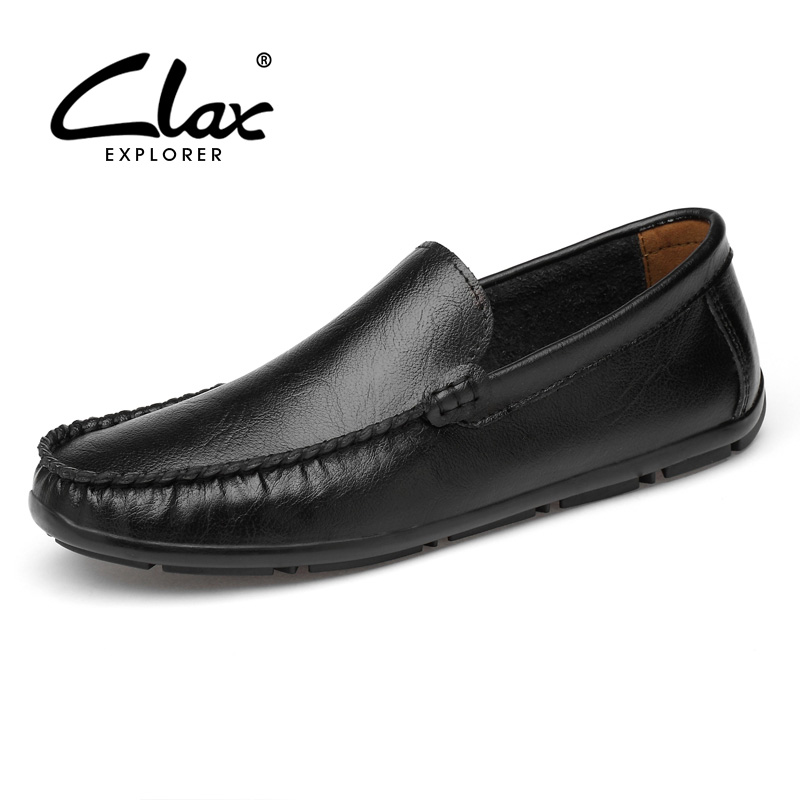 CLAX Man Moccasins 2019 Men s Leather Shoes Slipons Casual Loafers Male Boat Shoe Breathable Soft