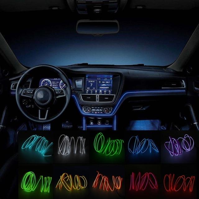 1m 2m el wire neon lights12v flexible led strip lights car auto 1m 2m el wire neon lights12v flexible led strip lights car auto interior decorative lamp atmosphere aloadofball Gallery