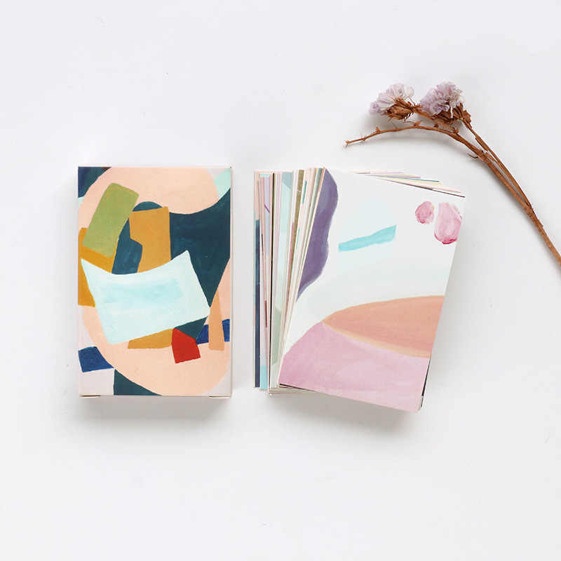 28 sheets/Set Creative Colorful Life Mini Lomo Postcard /Greeting Card/Birthday Letter Envelope Gift Card Message Card