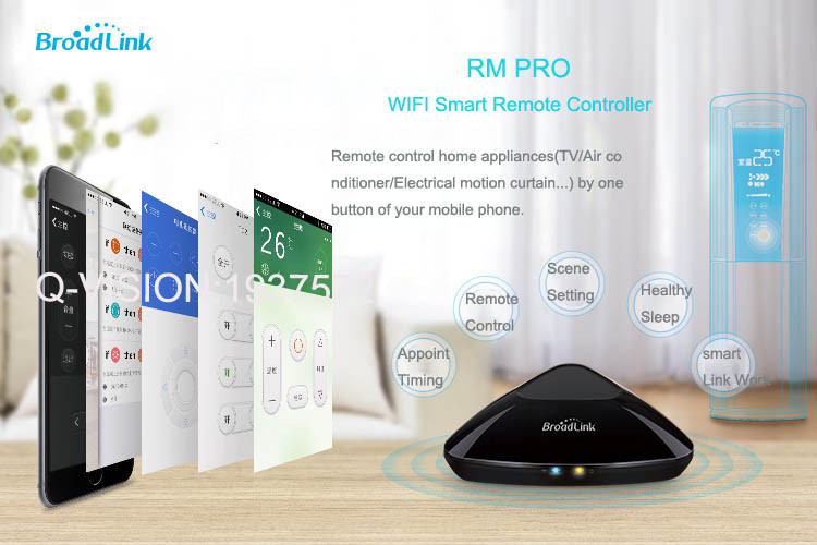 1-Broadlink RM2 RM PRO Universal Smart Wifi Remote IR RF + A1 E-Air Quality Detector Infrared Home Automation kit Sensor Smart App