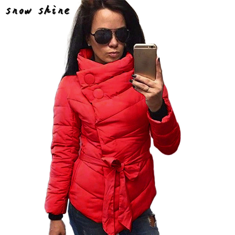 snowshine #3003  Women Warm Winter Coat Long Sleeve Irregular Jacket Outwear free shipping *yf1