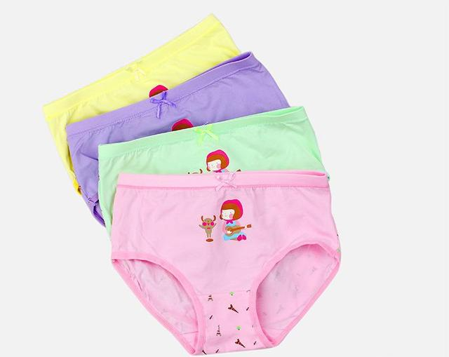 283edfa4a Kids Girls Underwear Stretchy Comfy Musical Girl Pattern Panties Assorted  Briefs Inner wear 4-Pack Toddle Baby 3-14Y