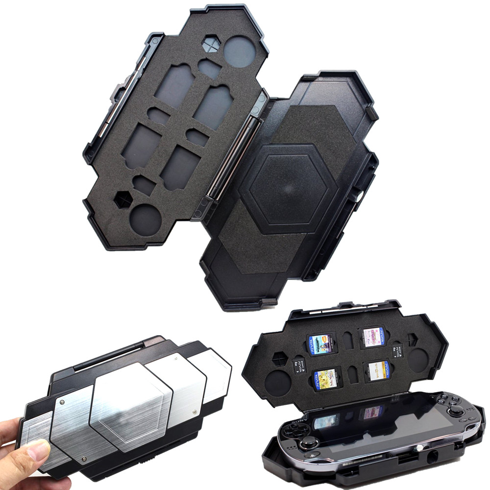 Storage Carry Travel Steel Armor Case for <font><b>Sony</b></font> Playstation <font><b>PS</b></font> <font><b>Vita</b></font> PSV 1000/2000 Game <font><b>Consoles</b></font> Shell Cover Accessories image