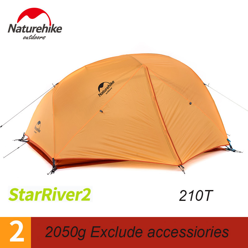 Naturehike Camping Tent Ultralight Outdoor 2 person 20D Waterproof Nylon Backpacking tent With Free Mat barraca praia Shelter naturehike 1 2 person camping with free mat tent double layer waterproof 3season backpacking tent ultralight for outdoor camping