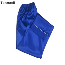 Men's Sleep pants trousers Silk pants thin Men Sleep Bottoms Loose trousers Plus size 3XL