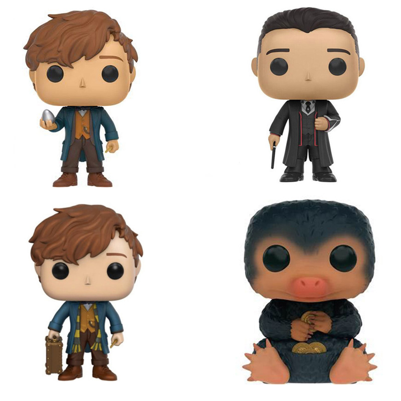 New Fantastic Beasts and Where To Find Them GRAVES NIFFLER NEWT SCAMANDER Action Figure Bobble Head Q Edition Vinyl Figure Toys fantastic beasts and where to find them city skyli