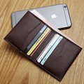 LANSPACE men's leather wallet handmade brand wallet fashion cow leather purse