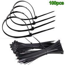 100 шт./компл. ABS Пластик Кабельные стяжки zip закрепить Провода Обёрточная бумага ремень самоблокирующиеся нейлоновая кабельная стяжка-M25