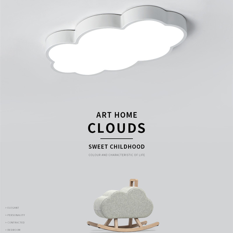 LED Cloud Ceiling Lights iron Lampshade luminaire Ceiling Lamp children Baby kids bedroom light fixtures Colorful lighting light-in Ceiling Lights from Lights & Lighting    1