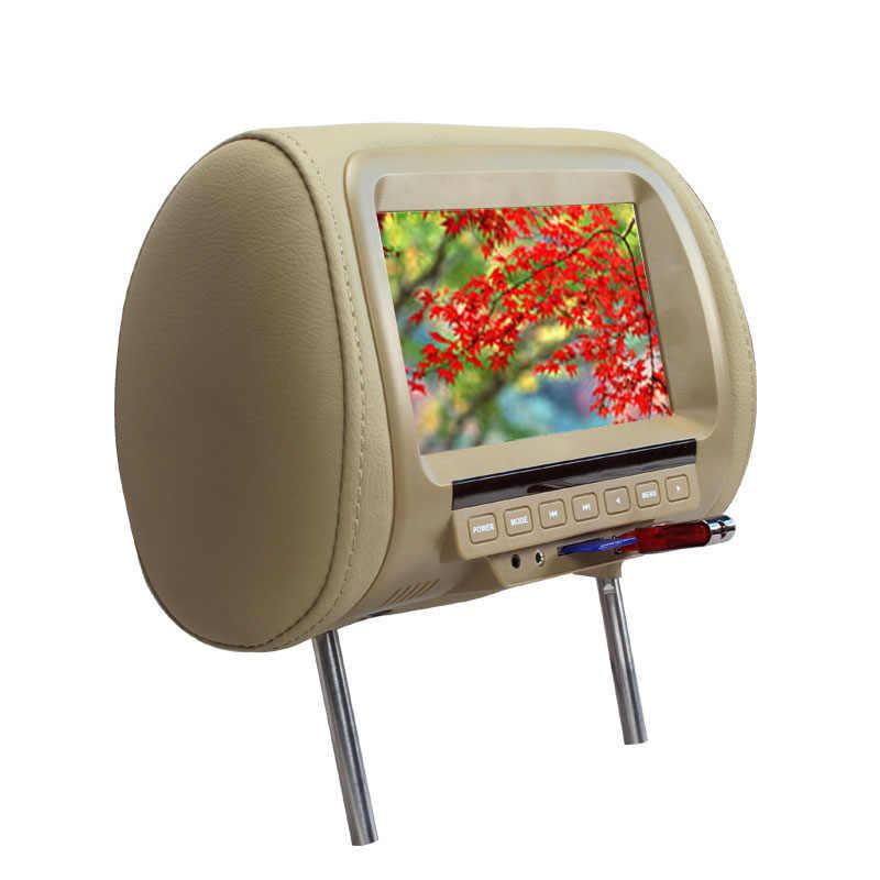 7 дюймов подголовник автомобиля монитор TFT светодиодный цифровой экран Подушка монитор MP5 плеер и usb и sd функции