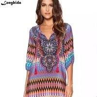 Summer Women Floral Print Elegant Beach Formal Plus Size Fantaist Dresses A Line Above Knee Mini