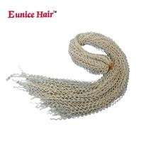 28 Inch Eunice Synthetic Box Braids Hair Thin Twist Zizi Braid Bohemian Style 613/#99j/Blonde Crochet Extension