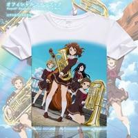 New Anime Hibike Euphonium T Shirt Yuufoniamu Kumiko Oumae Kumiko T Shirt Fashion Women Men Tees