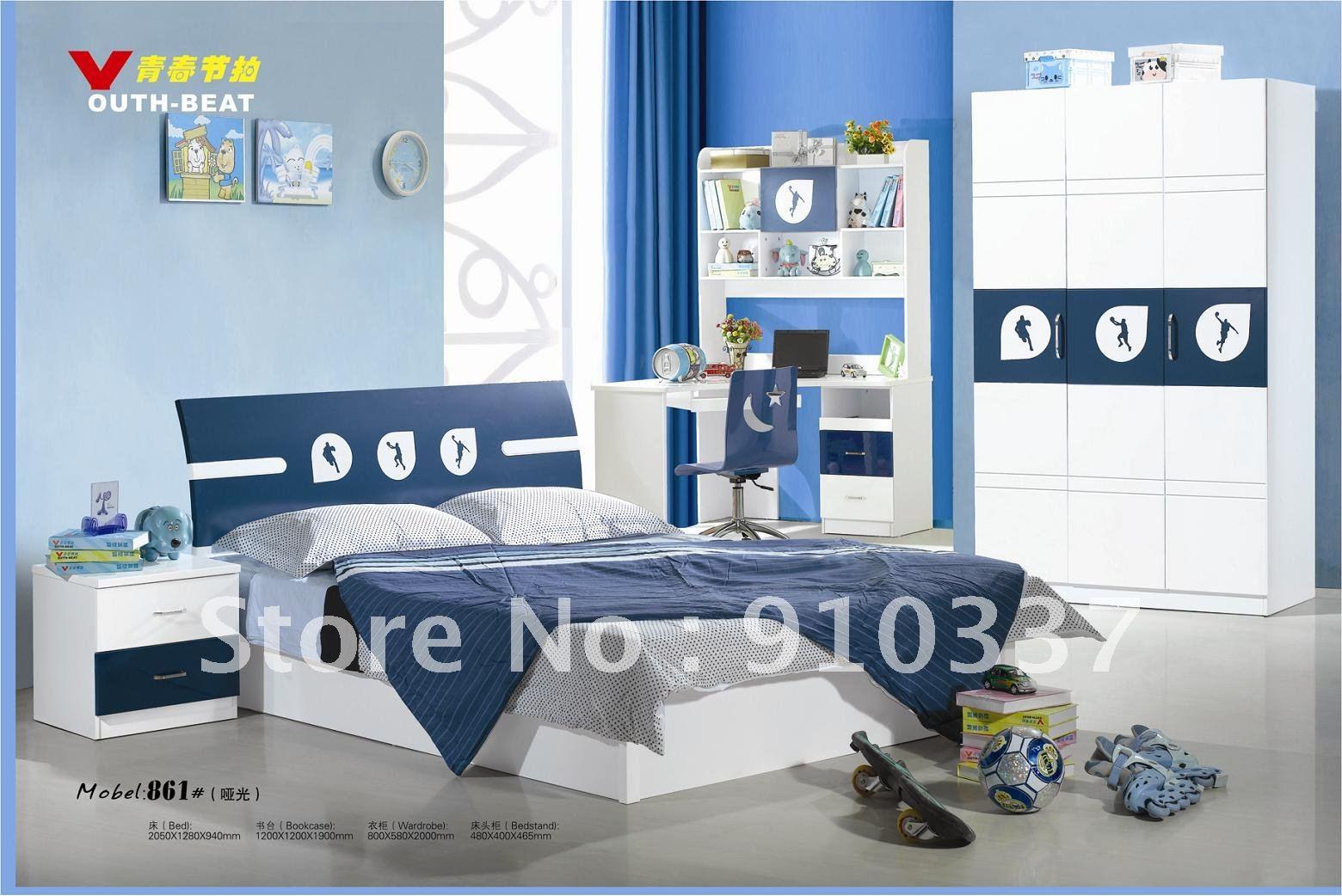 4 Pcs New Full Size Bedroom Set Mdf Panels Kids Furniture Bookcase Bed Nightstand Three Doors Wardrobe Wardrobe Furniture Design Wardrobe With Sliding Doorswardrobe Bedroom Furniture Aliexpress