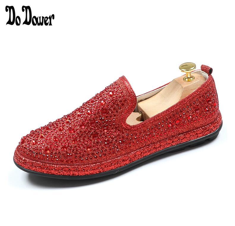 Or Nouvelle Rouge Noir Chaussures Marque Mocassins Cristal Homme Mens Robe Noble rouge Parti Velours A978 Strass Bureau Hommes Luxe De wqwC4rUA