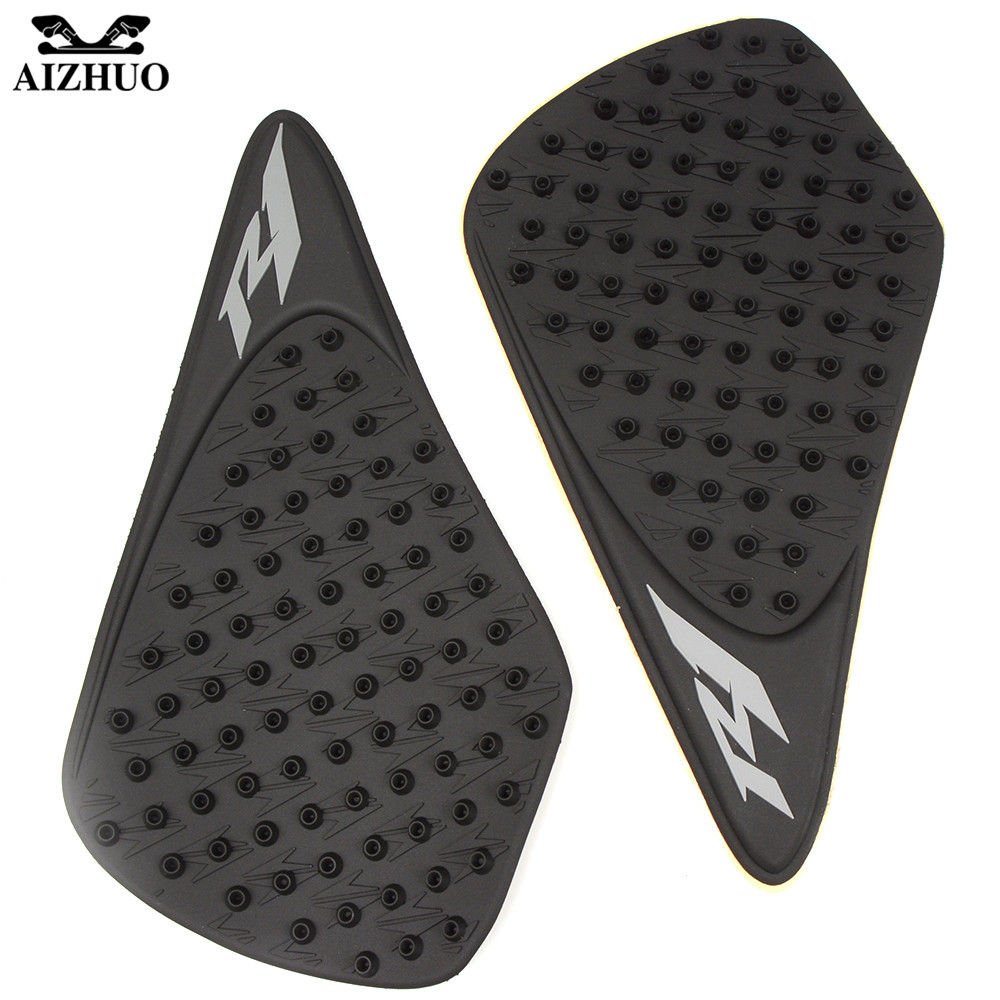 For Yamaha R1 YZF R1 2007 2008 Motorcycle Tank Pad Protector Sticker Decal Gas Knee Grip Tank Traction Pad Side 3M Tank Sticker in Decals Stickers from Automobiles Motorcycles
