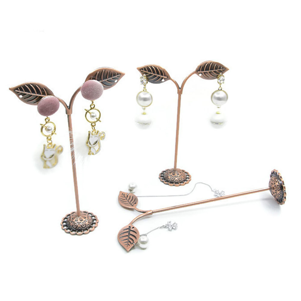 3pcs Display Hanger Decorative Earrings Rack Bracelet Necklace Store Iron Plating Jewelry Holder Anti-fall Home Stand Vintage