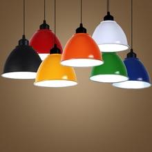 T Hot sell Colorful Loft Restaurant Pendant Light For Living Room Aluminum Simple Lamps Home Lighting Living Room Free shipping