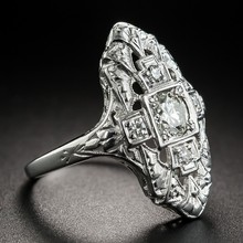 Роскошные Нержавеющаясталь цвет золотистый кольцо ювелирные изделия женский камень кольцо для женщины