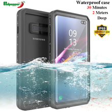 20pcs/lot Waterproof Case for Samsung Galaxy S10 S10+ Shockproof Swimming Diving Cover Plus Underwater Protective Coque