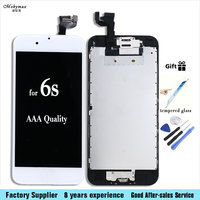 Camera Home Button Black White LCD Screen Digitizer Assembly Display With Tools For IPhone 6s 4