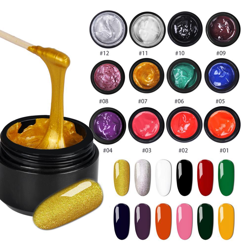 Biutee 12 Colors Set 8ml Nail stamping Gel Polish UV Light Cure Manicure Plate Print  Gellak Soak Off BIUTEE Poly Gel Polish Kit 4