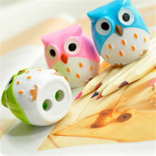 4 kolor śliczne Kawaii piękne plastikowe sowa automatyczna temperówka kreatywne artykuły papiernicze prezenty na przybory szkolne dla dzieci