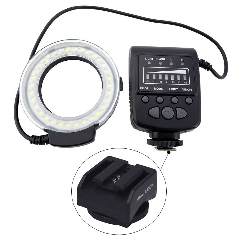 Mcoplus FC100 მაკრო ბეჭედი Flash LED Light + SH21 for Sony RX100M2 RX1 RX1R A6000 A7 A7R A7S NEX-6 A3000 A99 A58 HX400 HX60 HX50