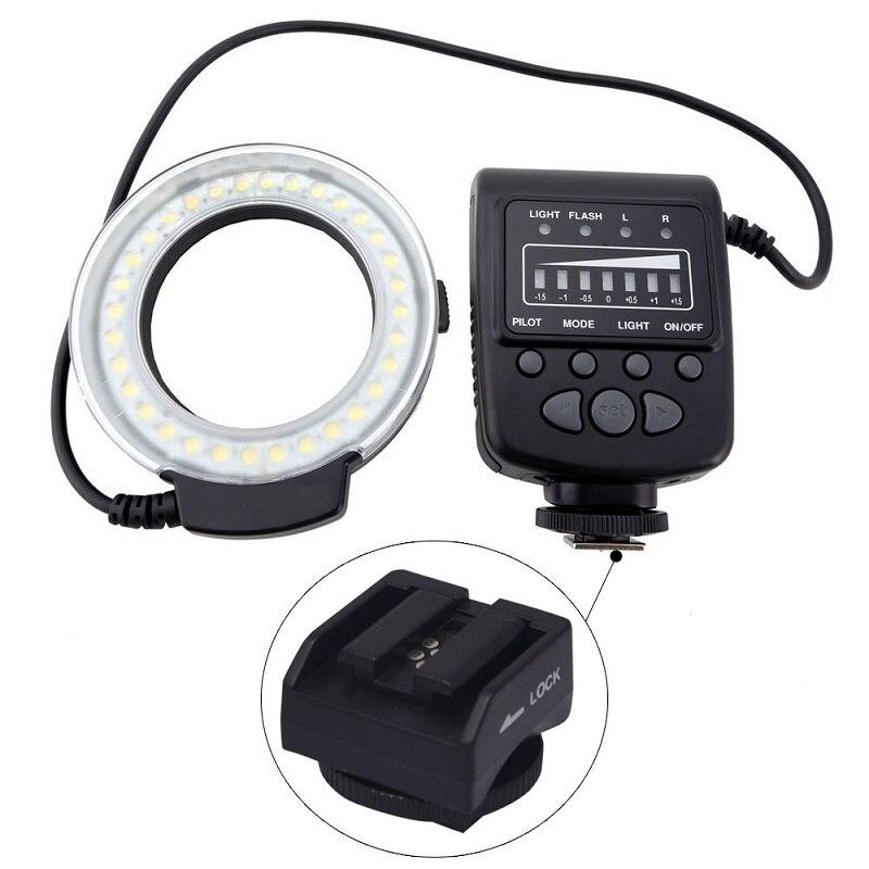 Mcoplus FC100 anillo Macro Flash LED luz + SH21 para Sony RX100M2 RX1 RX1R A6000 A7 A7R A7S NEX 6 A3000 a99 A58 HX400 HX60 HX50-in Flashes from Productos electrónicos    1